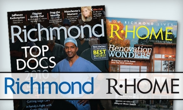 """""""Richmond"""" Magazine - Richmond: $14 for a Two-Year Holiday Gift Subscription to """"Richmond"""" and """"R-Home"""" Magazines"""