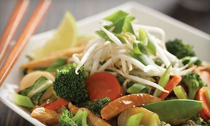 Wok Box Fresh Asian Kitchen  - Southeast Calgary: Pan-Asian Noodle or Rice Boxes at Wok Box Fresh Asian Kitchen (Up to 56% Off). Two Options Available.
