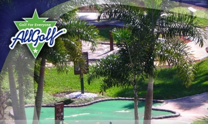 AllGolf Center - Miami: $20 for Four Rounds of Mini Golf, Four Batting-Cage Tokens, and Four Ice Creams at AllGolf Center in Pembroke Pines ($44 Value)