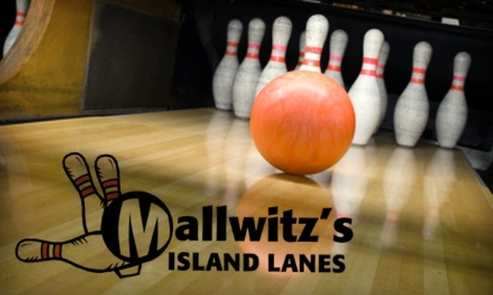 Mallwitz's Island Lanes - Grand Island: $18 for Two Hours of Bowling, Shoe Rental, and One Pitcher of Beer or Soda at Mallwitz's Island Lanes (Up to $44 Value)