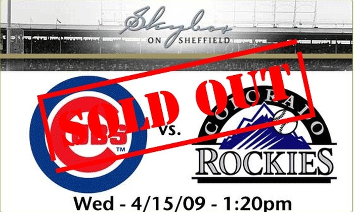 Skybox on Sheffield - Lakeview: Rooftop Tickets - Cubs vs Rockies - $59