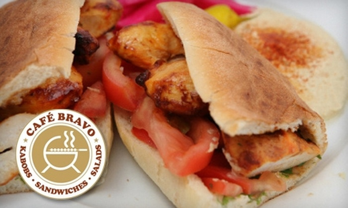 Cafe Bravo - Multiple Locations: $10 for $20 Worth of Middle Eastern Fare at Cafe Bravo