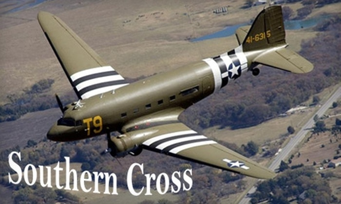 Southern Cross Douglas C-47 - North Point: $85 for a 20-Minute Flight over Fort Worth During Super Bowl Week in the Southern Cross C-47 and a T-Shirt