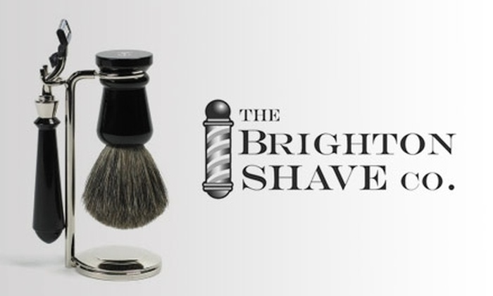 The Brighton Shave Co. - Beverly Hills: $35 for a 45-Minute Classic Shave or a Haircut, Plus a Foot or Neck Massage at The Brighton Shave Co.