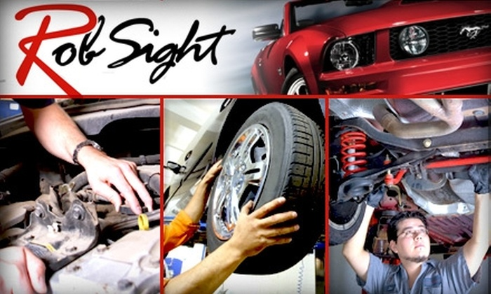 Rob Sight Ford Lincoln Mercury - Verona Hills: $20 Brake Inspection, Tire Rotation, Charge System Test, Multipoint Inspection, and Car Wash at Rob Sight Ford Lincoln Mercury