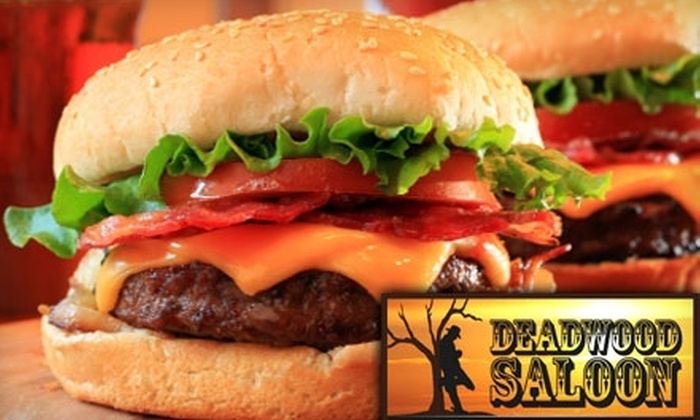 Deadwood Saloon - Midtown: $10 for $25 Worth of Gourmet Burgers, Drinks, and More at Deadwood Saloon