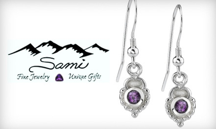 Sami Fine Jewelry - Fountain Hills: $27 for a Set of Sterling-Silver Arizona Amethyst Earrings at Sami Fine Jewelry ($55.95 Value)