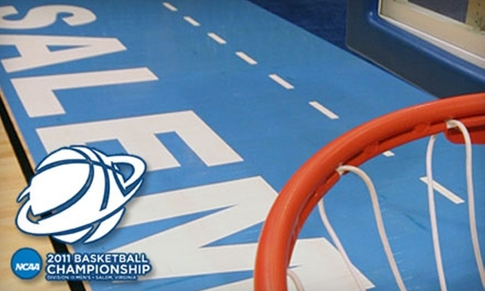 Salem Civic Center - Roanoke: Two Four-Game Packages to the NCAA Division III Men's Basketball Championship at Salem Civic Center (Up to $50 Value). Choose Between Two Options.