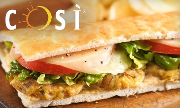 Cosi - Multiple Locations: $5 for $10 Worth of Food and Drink at Cosi