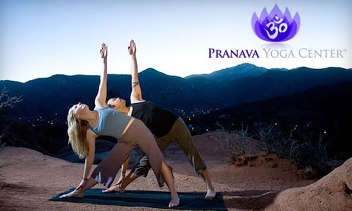 Pranava Yoga Center - East Colorado Springs: $39 for Five Weeks of Unlimited Classes at Pranava Yoga Center (Up to $99 Value)