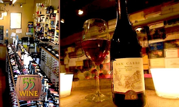 55 Degree Wine - Atwater Village: $25 for $55 Worth of Wine and Beer at 55 Degree Wine