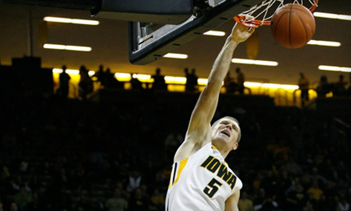 University of Iowa Athletics - Roosevelt: Outing for Two to University of Iowa Basketball at Carver-Hawkeye Arena (Half Off). Two Dates Available.