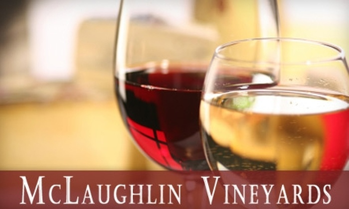 McLaughlin Vineyards - Hartford: $17 for a Wine Tasting for Two, Two Wine Glasses, and One Bottle of Wine at McLaughlin Vineyards ($34 value)