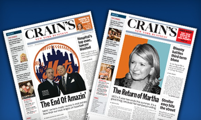 """""""Crain's New York Business"""" - Multiple Locations: $25 for a One-Year Subscription to """"Crain's New York Business"""" ($59.97 Value)"""