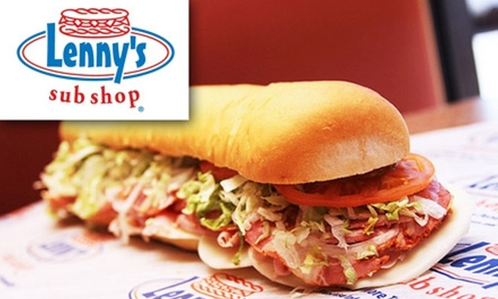 Lenny's Sub Shop - Multiple Locations: $5 for $10 Worth of Subs and Beverages at Lenny's Sub Shop
