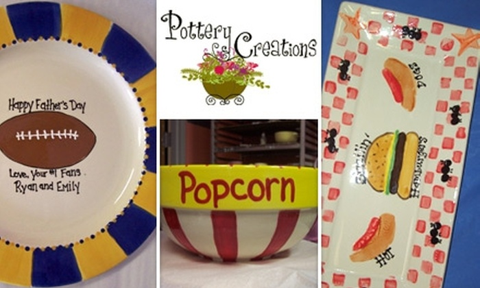 Pottery Creations - Downtown Wyandotte: $15 for $35 of Paint-Your-Own Pottery from Pottery Creations
