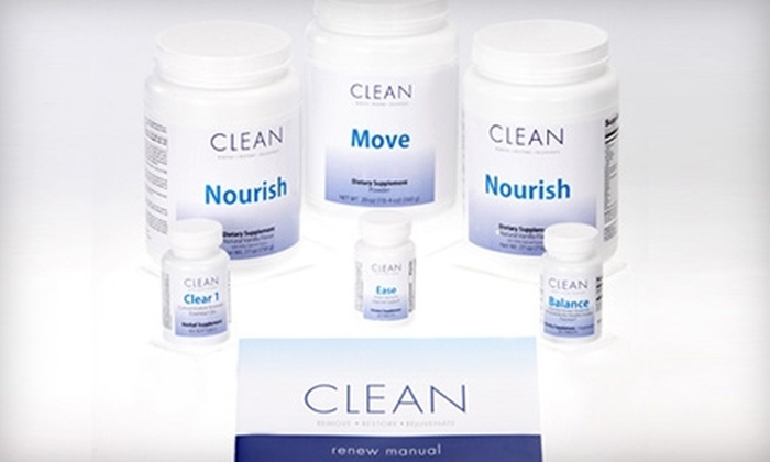 Clean Program: $125 for a 21-Day Renew Body Cleanse ($250 Value) from Clean Program