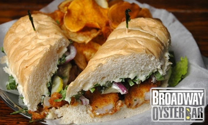 Broadway Oyster Bar St. Louis - St Louis: $14 for $30 Toward Cajun and Creole Dinner Fare at Broadway Oyster Bar (or $7 for $17 Toward Lunch)
