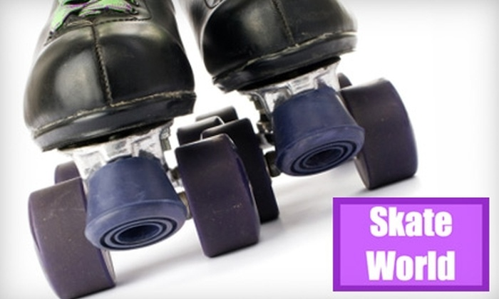Skate World - Evansville: $12 for Two Admissions, Skate Rentals, Medium Drinks, and Slices of Pizza at Skate World Evansville