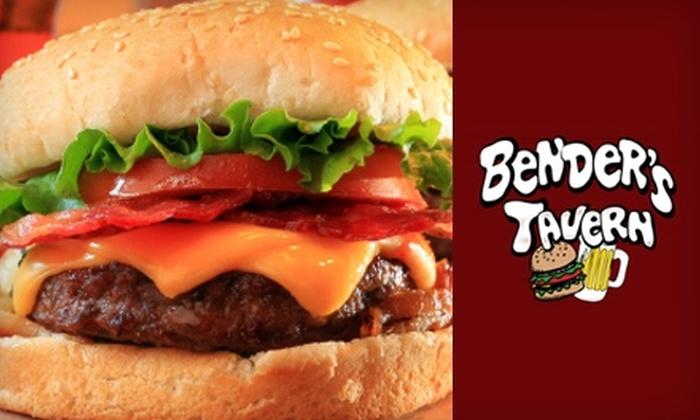Bender's Tavern - Greensboro: $6 for $12 Worth of Pub Fare at Bender's Tavern