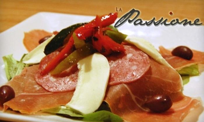 La Passione Italiana - Deer Park: $20 for $40 Worth of Authentic Italian Fare and Drinks at La Passione Italiana