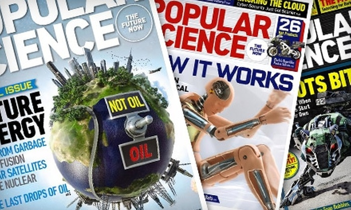 "Popular Science: $9 for 24 Issues of ""Popular Science"" ($18 Value)"