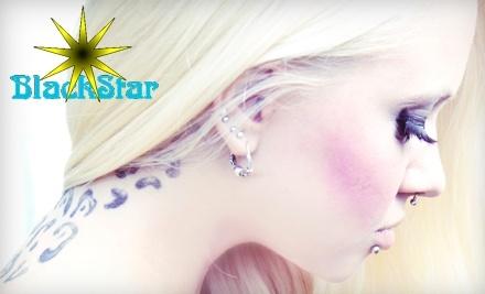 $60 Groupon to BlackStar Body Piercing - BlackStar Body Piercing in Kingston