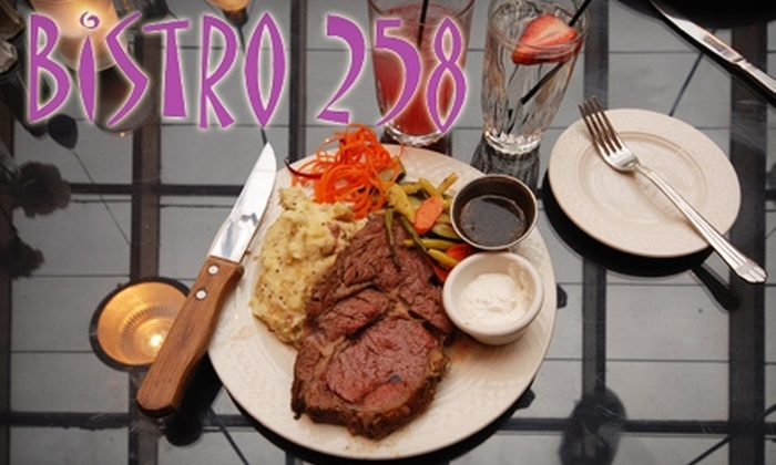 Bistro 258 - Ogden: $15 for $30 Worth of American Dinner Fare and Drinks at Bistro 258 (or $8 for $15 Worth of Lunch)