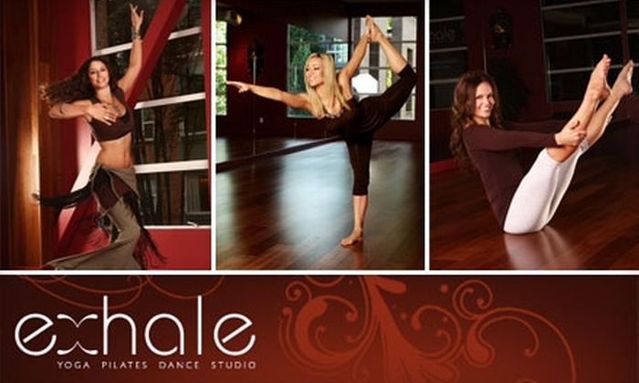 Exhale Studio - Downtown Vancouver: $36 for One Month of Unlimited Yoga, Pilates, and Dance Classes at Exhale Studio ($72 Value)