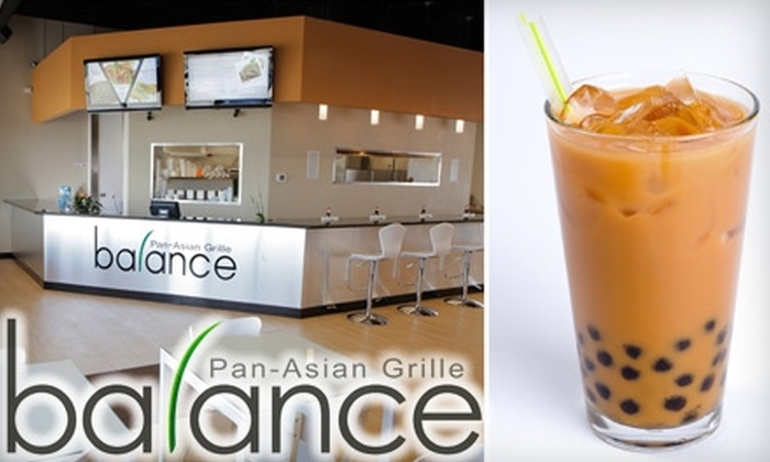 Balance Pan-Asian Grille - Maumee: $7 for Five Bubble Teas at Balance Pan-Asian Grille in Maumee ($20 Value)