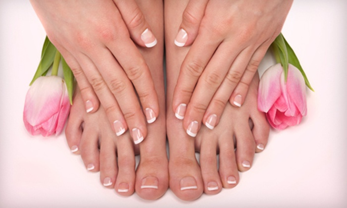 Heartland Skin Wellness Center - Clive: Mani-Pedi, Shellac Pedi, Collagen-Infusion Facial, or Glycolic Peel at Heartland Skin Wellness Center (Up to 52% Off)