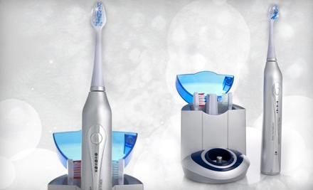Good for Diamond Elite Ultrasonic Toothbrush, UV Sanitizing Charger Base, 3 Replacement Brush Heads, and Free Shipping - Diamond Elite Ultrasonic Toothbrush in