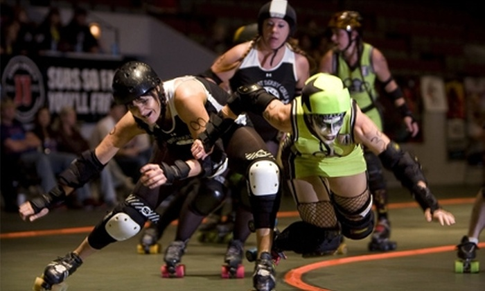 No Coast Derby Girls - Downtown: Two Tickets to a No Coast Derby Girls Bout. Four Dates Available.
