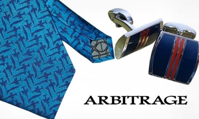 Arbitrage - San Jose: $35 Tie or Pair of Cuff Links from Arbitrage ($88 Value)