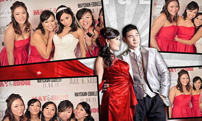 Red Carpet Event Photo Booth - Northeast Raleigh: Three- or Four-Hour Photo-Booth Rental from Red Carpet Event Photo Booth (Up to 62% Off)