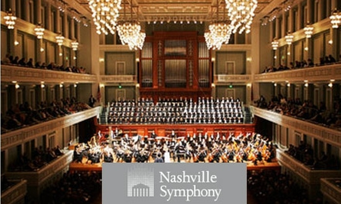 "Nashville Symphony - Downtown Nashville: $30 Orchestra Ticket to the Nashville Symphony's ""Thibaudet Returns"" ($75 Value). Buy Here for the Saturday, April 3, Concert at 8 p.m. See Below for Additional Dates and Times."