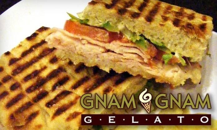 Gnam Gnam Gelato - Greensboro: $5 for $10 Worth of Paninis, Salad, and More at Gnam Gnam