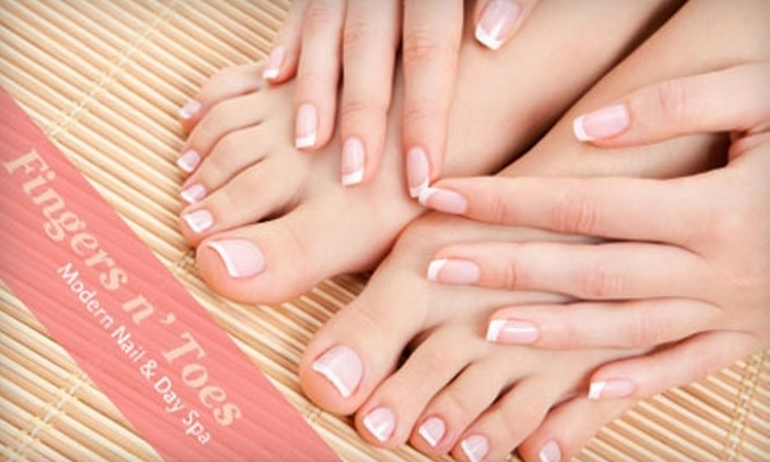 Fingers n' Toes - Los Angeles: $25 for a Marine Manicure and Pedicure, Plus 30% Off a Facial, at Fingers n' Toes in Encino (Up to $58 Value)