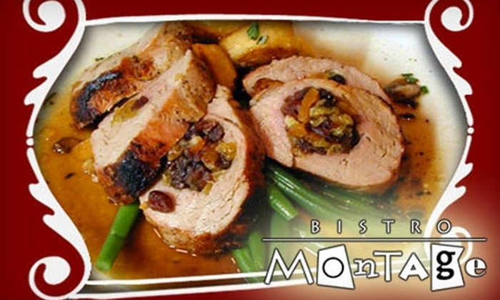 Bistro Montage - Woodland Heights: $30 for $60 Worth of French Fare and Drinks at Bistro Montage