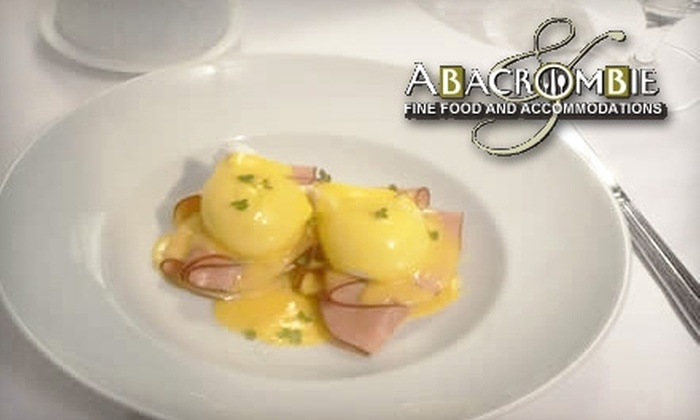 Abacrombie Fine Food and Accomodations - Mid-Town Belvedere: $25 for $50 Worth of Fine Cuisine at Abacrombie Fine Food and Accomodations