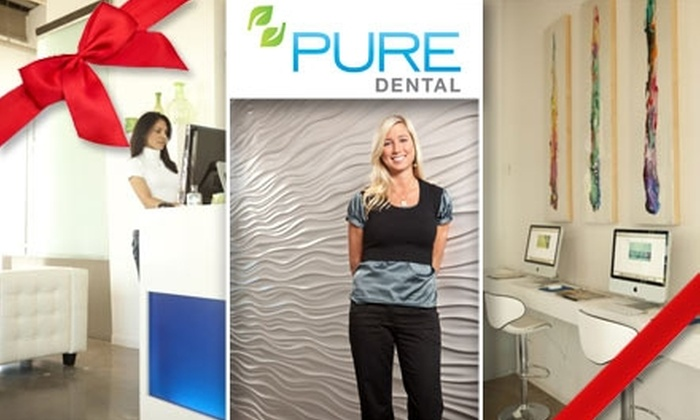 PURE Dental  - Dallas: $188 for a complete Zoom! Teeth Whitening Treatment, Take-Home Trays, and Touch-Up Gel at Pure Dental ($741 Value)