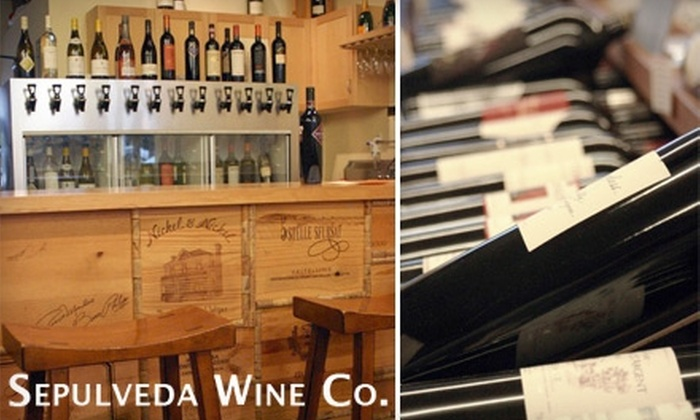 Sepulveda Wine Company - Manhattan Beach: $5 for Flight of Five Wines at Sepulveda Wine Company in Manhattan Beach ($10 Value)