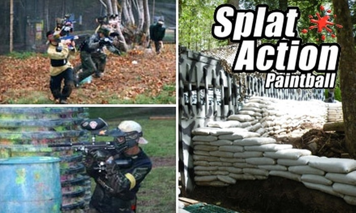 Splat Action Paintball - Colton: $22 for an All-Day Equipment Rental Plus 200 Paintballs at Splat Action Paintball ($45 Value)