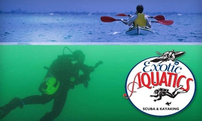 Exotic Aquatics Scuba and Kayaking - Bainbridge Island: $20 for a Discover Scuba Class ($40 Value) or $19 for a Kayaking Tour ($39 Value) at Exotic Aquatics Scuba and Kayaking