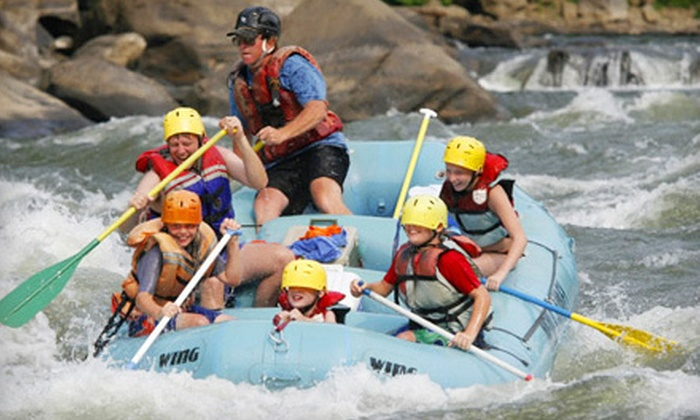 New & Gauley River Adventures - Lansing: Rafting Adventure with Camping Sunday–Friday or Saturday from New & Gauley River Adventure in Lansing, WV (Up to 54% Off)
