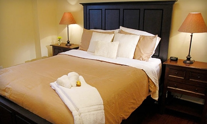 The Society House - Downtown: Luxury-Suite Stay, Carriage Ride, and Dinner at The Society House in Charleston, SC. Two Options Available.