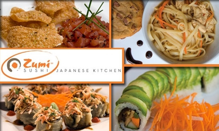 Zumi Sushi Japanese Kitchen - Hillsboro West End: $15 for $35 Worth of Japanese Cuisine and Drinks at Zumi Sushi Japanese Kitchen