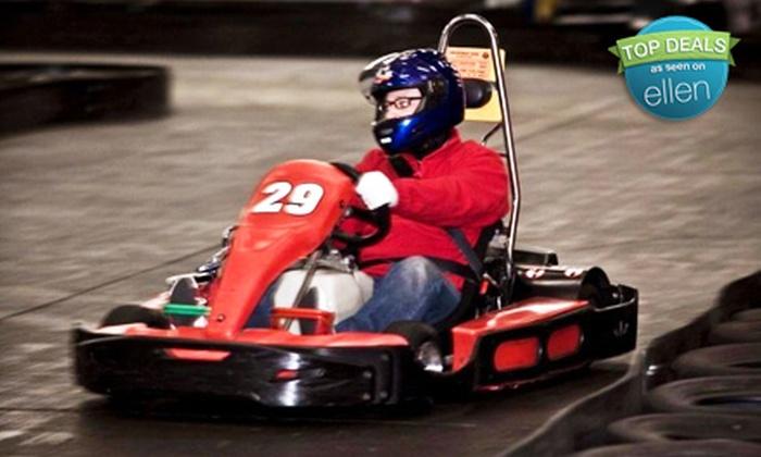 SyKart Indoor Racing Center - Tukwila: $17 for Two Go-Kart Races and a Rental Helmet at SyKart Indoor Racing Center in Tukwila (Up to $36 Value)