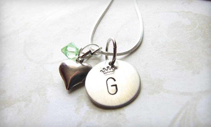 Love Stamped: $17 for $35 Worth of Personalized Jewellery with Shipping Included from Love Stamped
