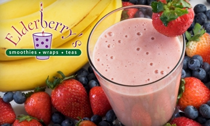 Elderberry's - Multiple Locations: $7 for $15 Worth of Smoothies, Wraps, and Soups at Elderberry's